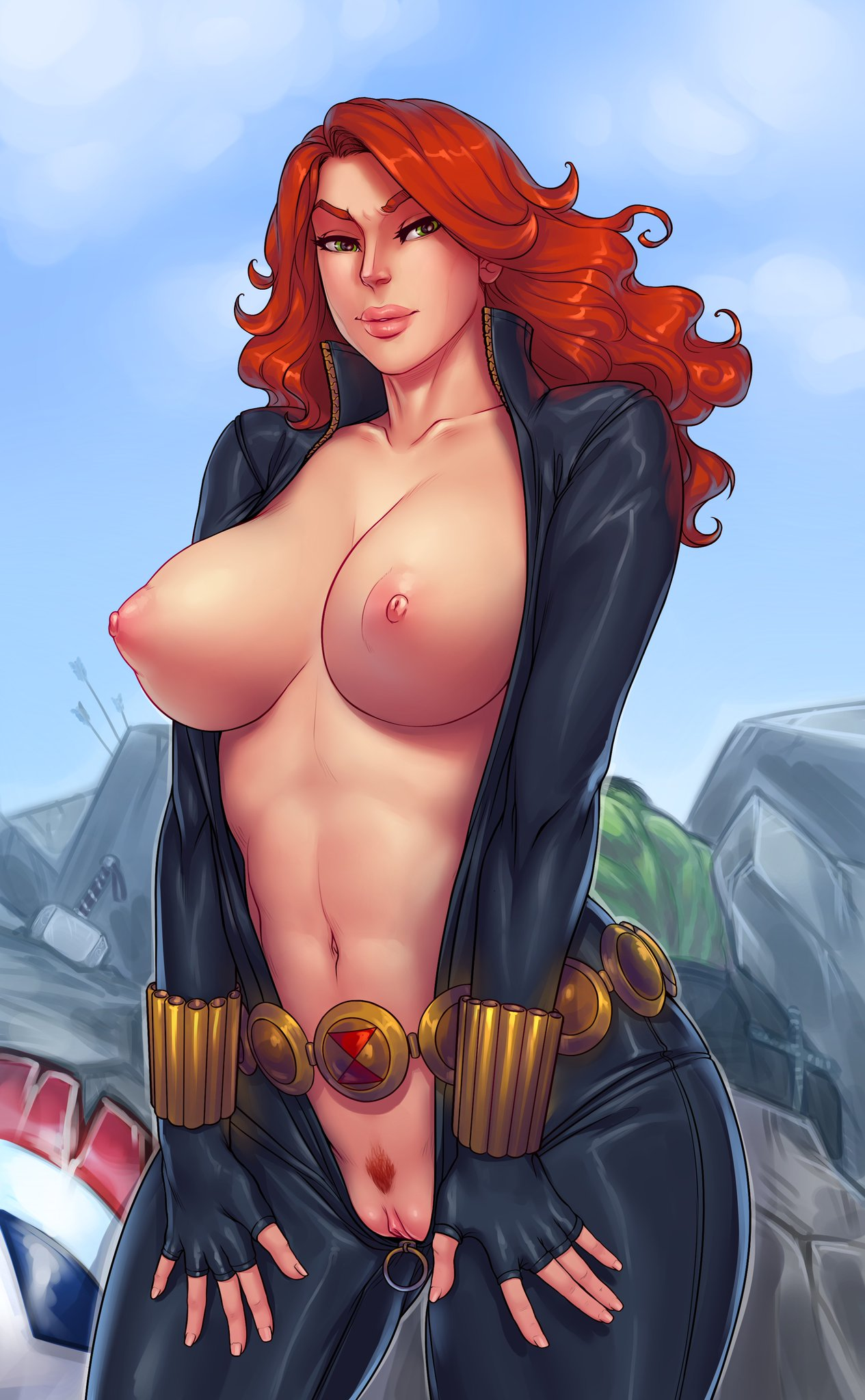 and porn spiderman black widow How long is tales of the abyss