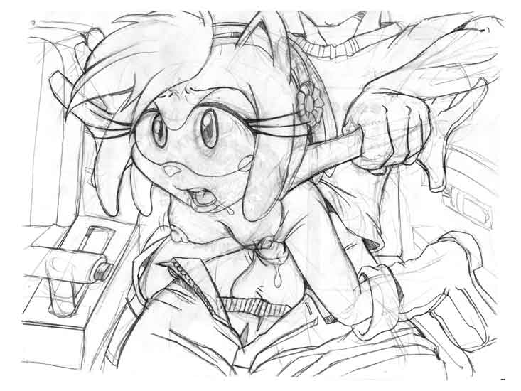 a as human amy rose Berri conker's bad fur day